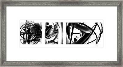 Solar Jail Triptych Framed Print by Stwayne Keubrick