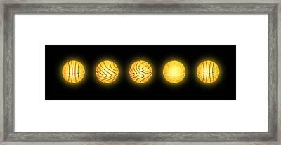 Solar Magnetic Field Reversal Framed Print by Mikkel Juul Jensen