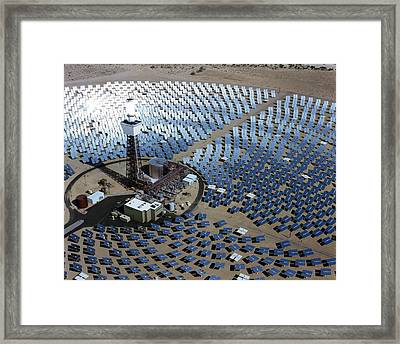 Solar One Framed Print by Sandia National Laboratories/us Department Of Energy