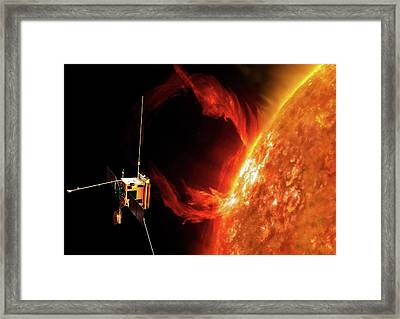 Solar Orbiter Spacecraft Framed Print by European Space Agency/aoes