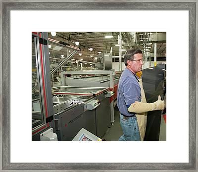 Solar Panel Manufacturing Framed Print