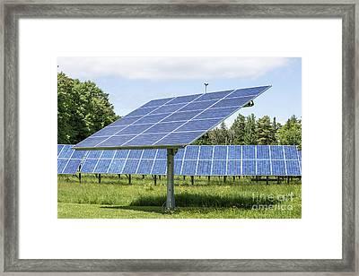 Solar Panels Framed Print by Edward Fielding