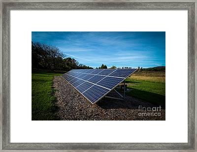 Solar Panels Mendocino County Framed Print