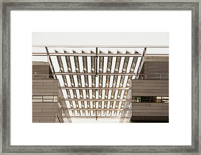 Solar Panels On The Alan Turing Building Framed Print