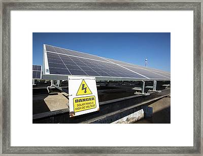 Solar Panels Providing Electricity Framed Print by Ashley Cooper