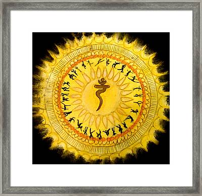 Solar Plexus Chakra Framed Print by Jennie Hallbrown