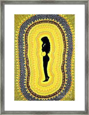 Solar Plexus Chakra  Manipura Framed Print by Baruska A Michalcikova