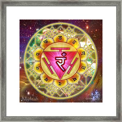 Solar Plexus Chakra Manipura  Framed Print by Mynzah Osiris