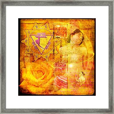 Solar Plexus Chakra Framed Print by Mark Preston