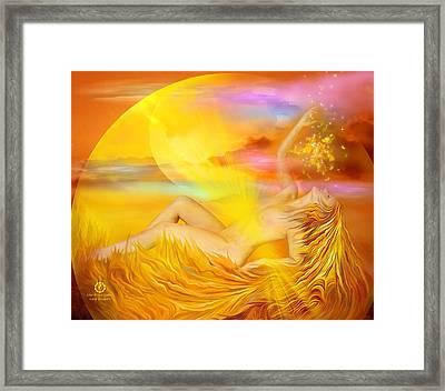 Solar Plexus Goddess Framed Print by Carol Cavalaris