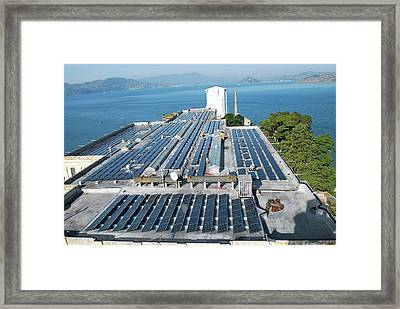 Solar Power At Alcatraz Framed Print by National Park Service/us Department Of Energy