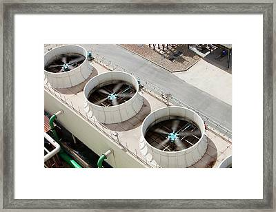 Solar Power Plant Water Cooler Framed Print by Ashley Cooper