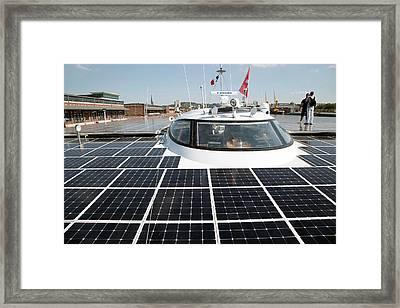 Solar-powered Boat Framed Print by Andrew Wheeler