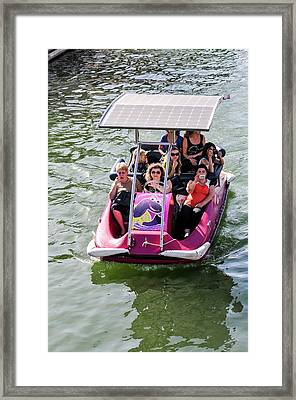 Solar Powered Boat Framed Print by Photostock-israel