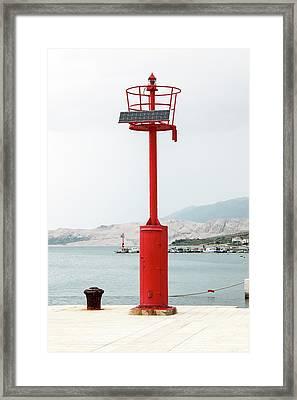 Solar Powered Lighthouse Framed Print