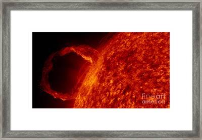 Solar Prominence 2010 Framed Print