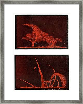 Solar Prominences Framed Print by Cci Archives