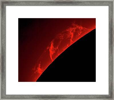 Solar Prominences Framed Print by Damian Peach