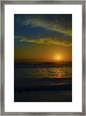 Solar Rise Framed Print