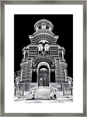 Solar Silver - Nativity Of Christ Orthodox Cathedral - Riga - Latvia Framed Print by David Hill