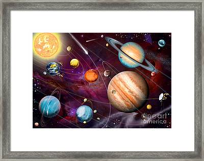 Solar System 2 Framed Print by Garry Walton