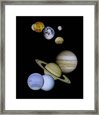 Solar System Montage Framed Print by Movie Poster Prints