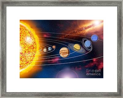 Solar System Planets Framed Print by Jos� Antonio Pe�as