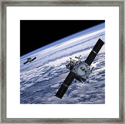 Solar Terrestrial Relations Observatory Satellites Framed Print by Anonymous