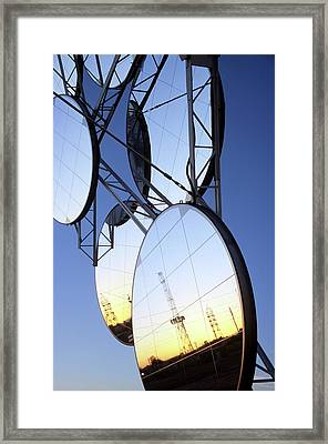 Solar Test And Research Facility Framed Print by Bill Timmerman/us Department Of Energy