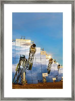 Solar Test Facility Framed Print by Sandia National Laboratories
