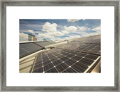 Solar Thermal And Solar Pv Panels Framed Print