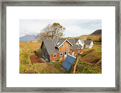 Solar Thermal Panel For Heating Water Framed Print by Ashley Cooper
