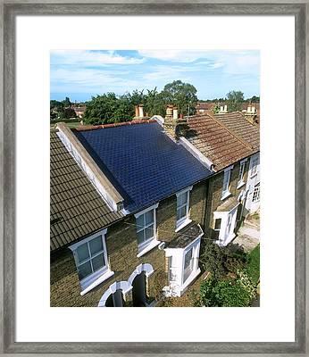 Solar Tiles Framed Print by Martin Bond