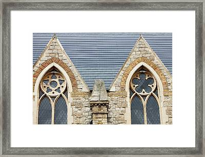 Solar Tiles On A Church Framed Print