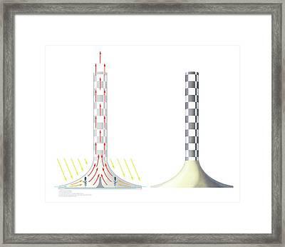 Solar Updraft Tower Framed Print
