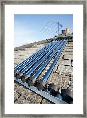 Solar Water Heating Panel Framed Print by Ashley Cooper