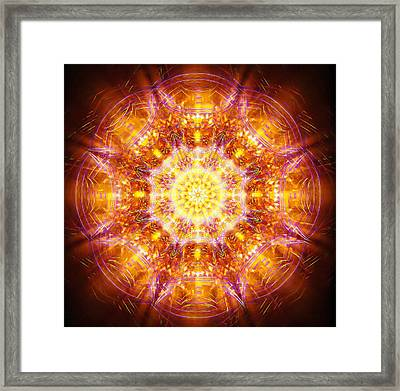 Framed Print featuring the painting Solarene by Jalai Lama