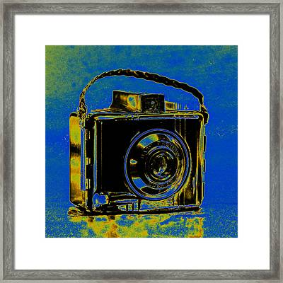 Solarized Brownie Framed Print by Jon Woodhams