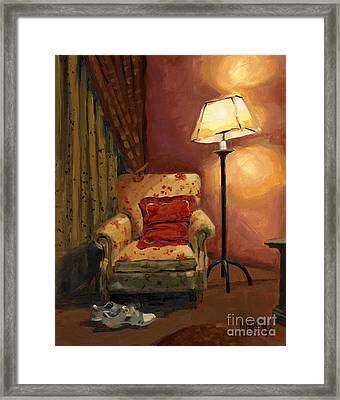 Sold - And Sit Right Down Framed Print