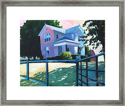 Sold Childhood Home Comissioned Work Framed Print