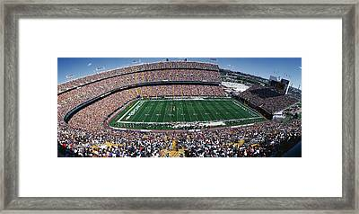 Sold Out Crowd At Mile High Stadium Framed Print by Panoramic Images