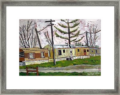 Sold Rainy Day Trailers Framed Print