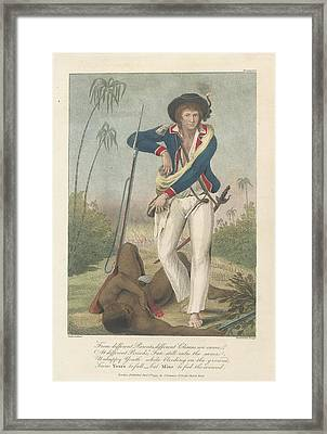 Soldier And A Dead Native Framed Print
