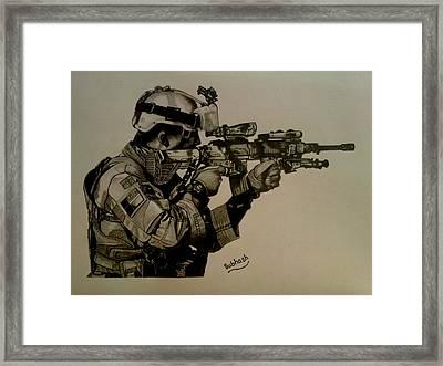 Soldier Colt Situation Afghanistan Framed Print