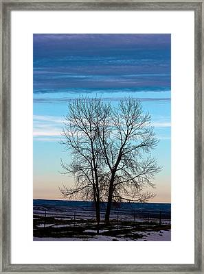 Soldier Creek Sunset Framed Print