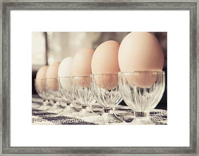 Soldier Eggs Framed Print by Cheryl Baxter
