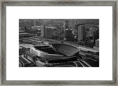 Soldier Field Chicago Sports 05 Black And White Framed Print