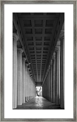 Soldier Field Colonnade Chicago B W B W Framed Print