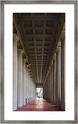 Soldier Field Colonnade Framed Print