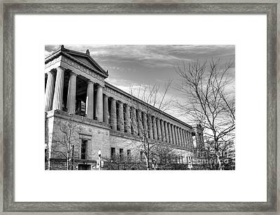 Soldier Field In Black And White Framed Print